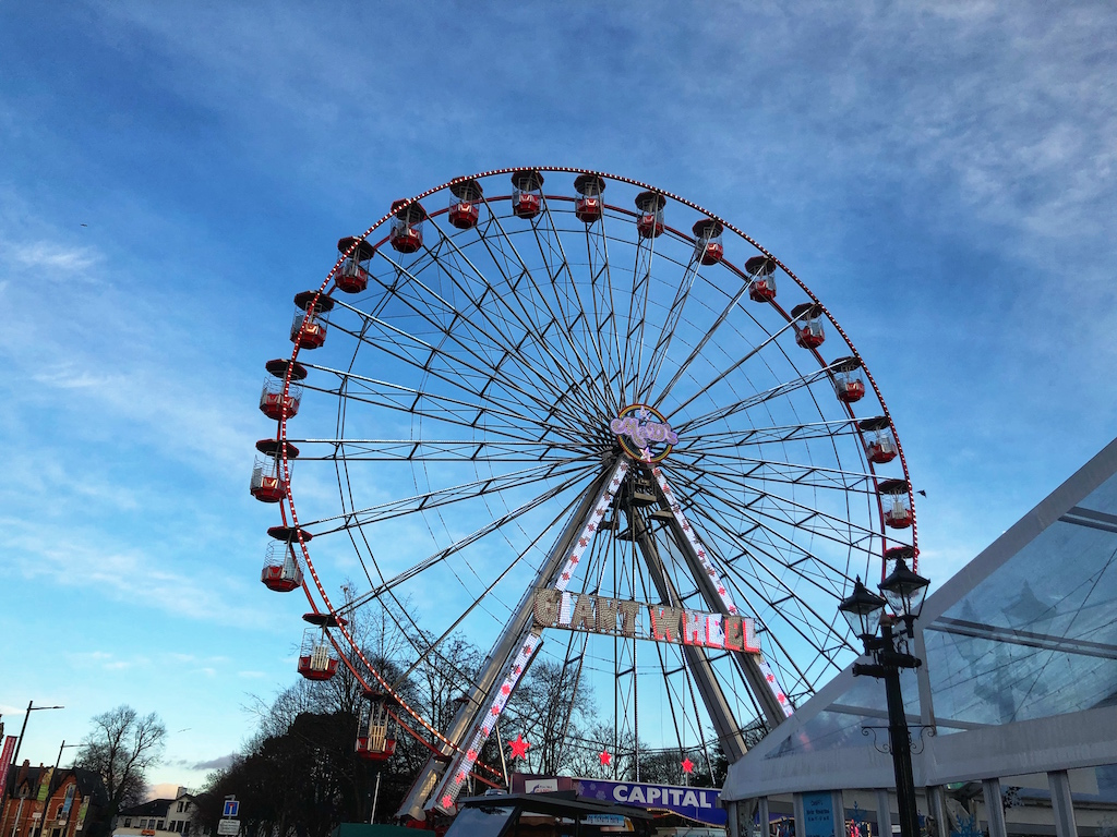 The Giant Wheel at Winter Wonderland Cardiff
