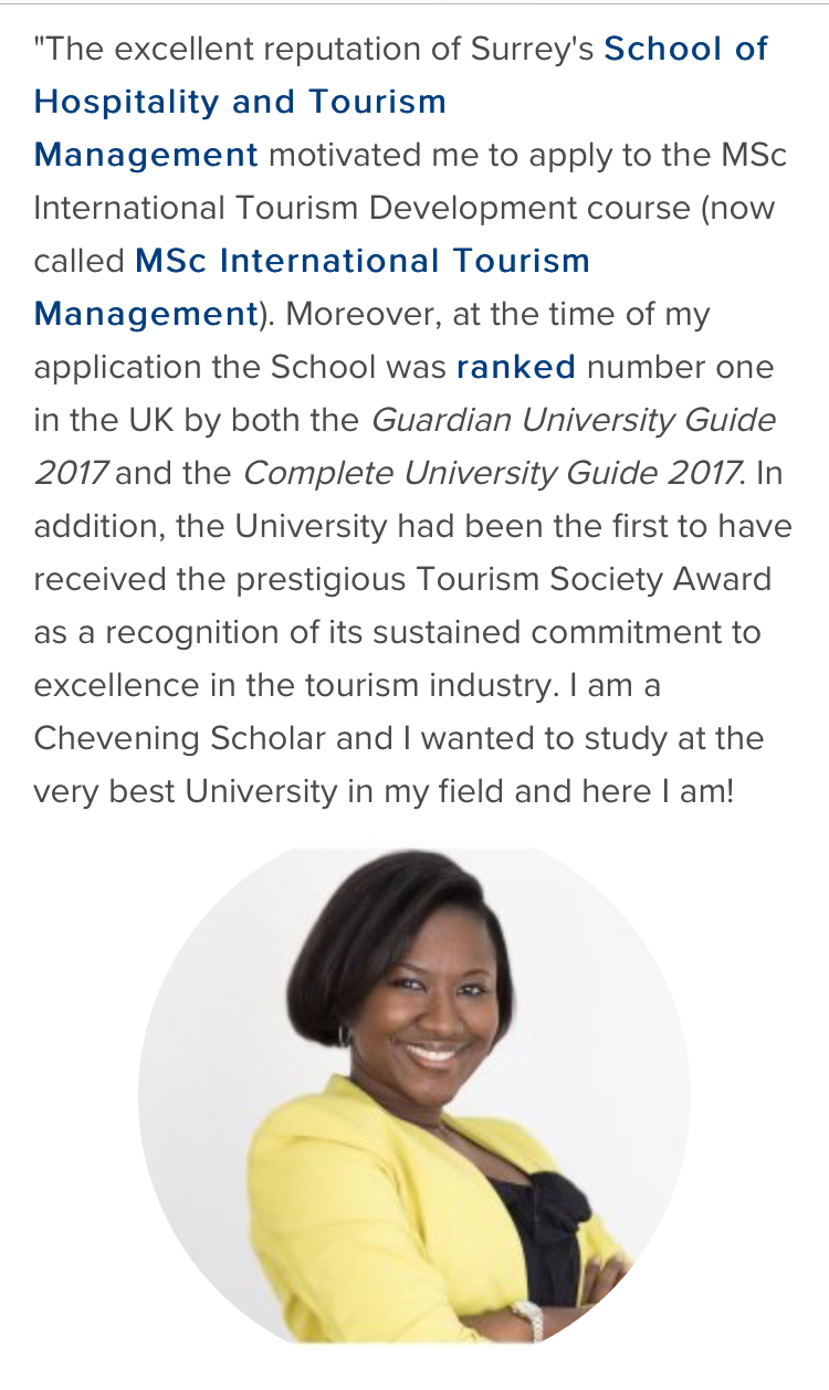 Yasmine Fofana Blog University of Surrey