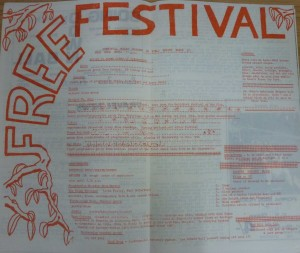 Free Festival 1970 program in Bare Facts May 25 1970.