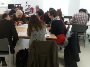 School of Arts Learning & Teaching event January 2015 discussion workshop 1
