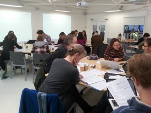 School of Arts Learning & Teaching event January 2015 discussion workshop 2