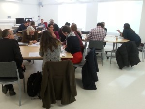 School of Arts Learning & Teaching event January 2015 discussion workshop 3