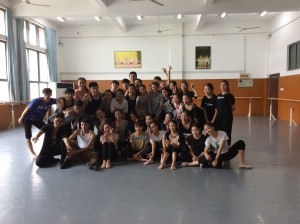 Second year dance students and Antje Hildebrandt
