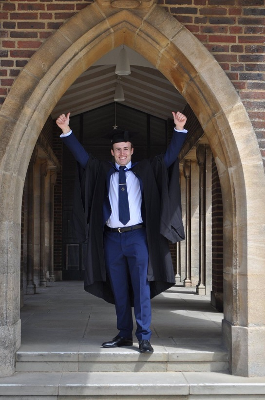 Alex Nixon, 3M, celebrating his graduation from University of Surrey at Guildford Cathedral