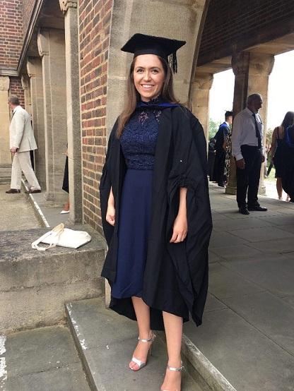 Megan at graduation