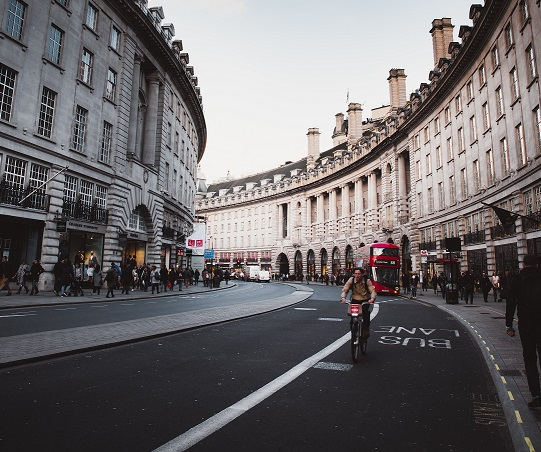 Image of a busy London street