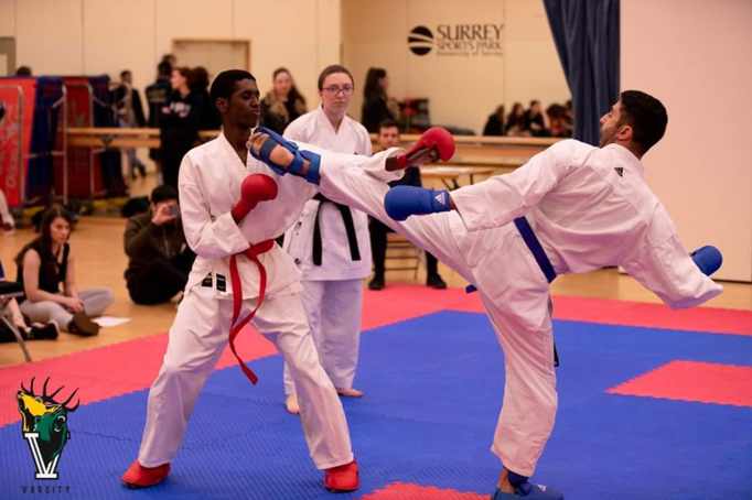 An image from a Karate kick from Karate Varsity