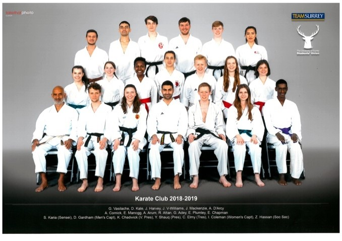 20 members of Team Surrey Karate