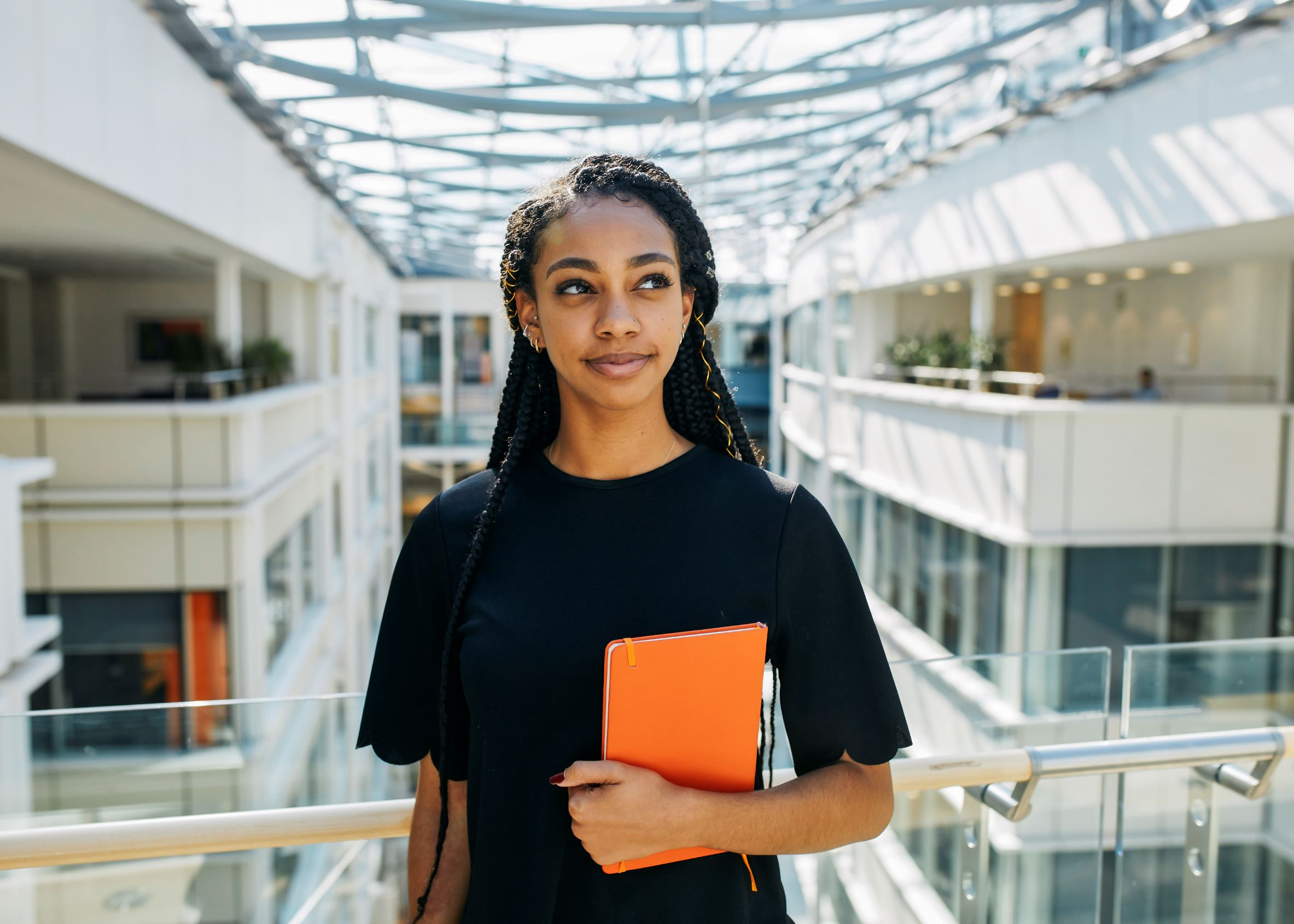 Image of GSK Employee with backdrop of the office