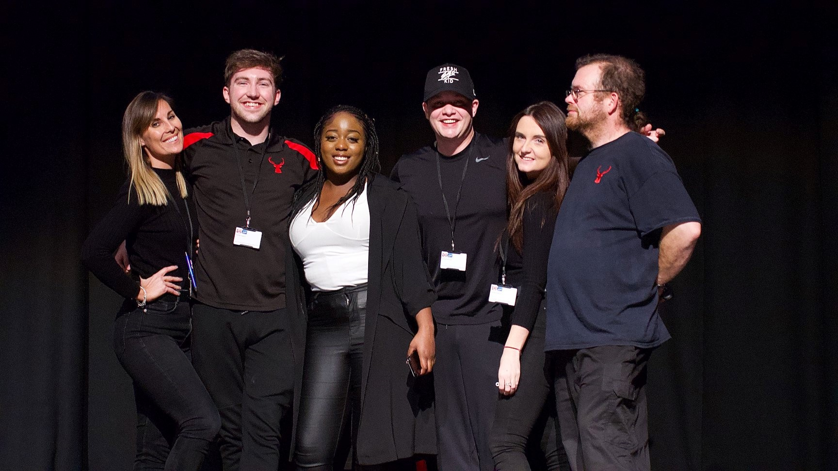 James and 4 other members of staff who work in the community zone of the Surrey Students' union.