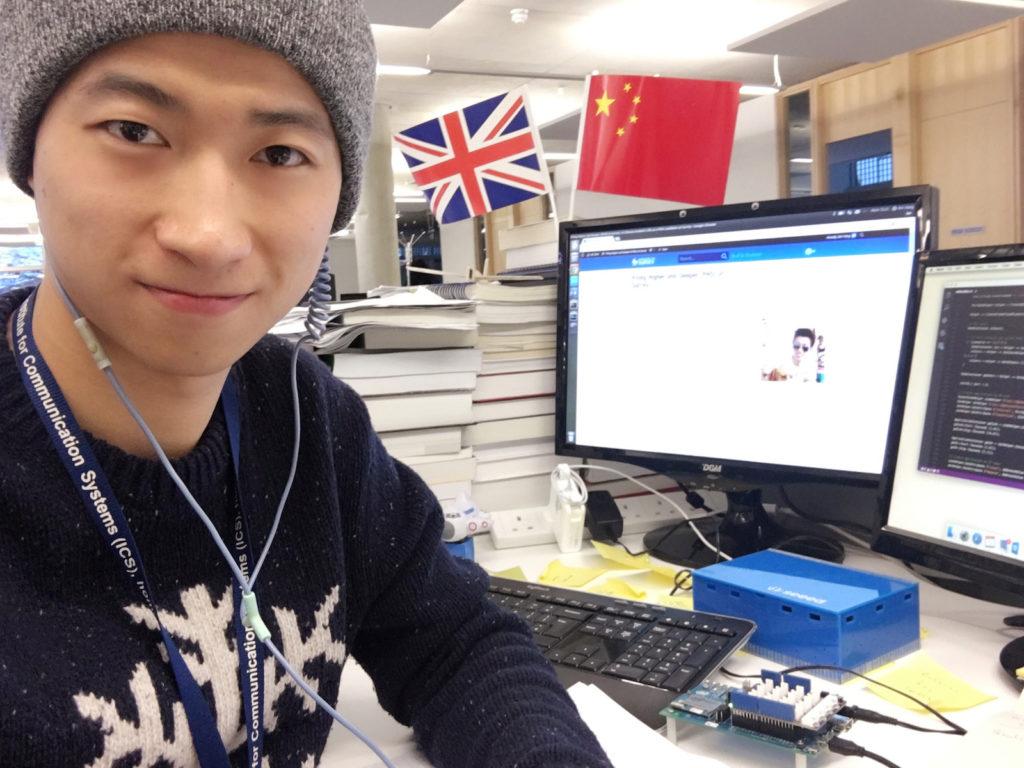 Xin Yang and His Desk