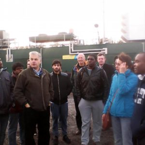 University of Surrey Energy Economics and Technology students at Apsely Biogas Plant in Hampshire...where theory and practice met.