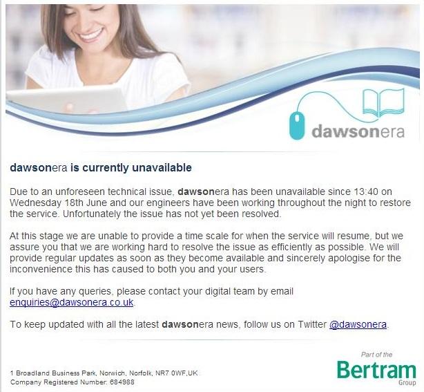 DawsonEra message