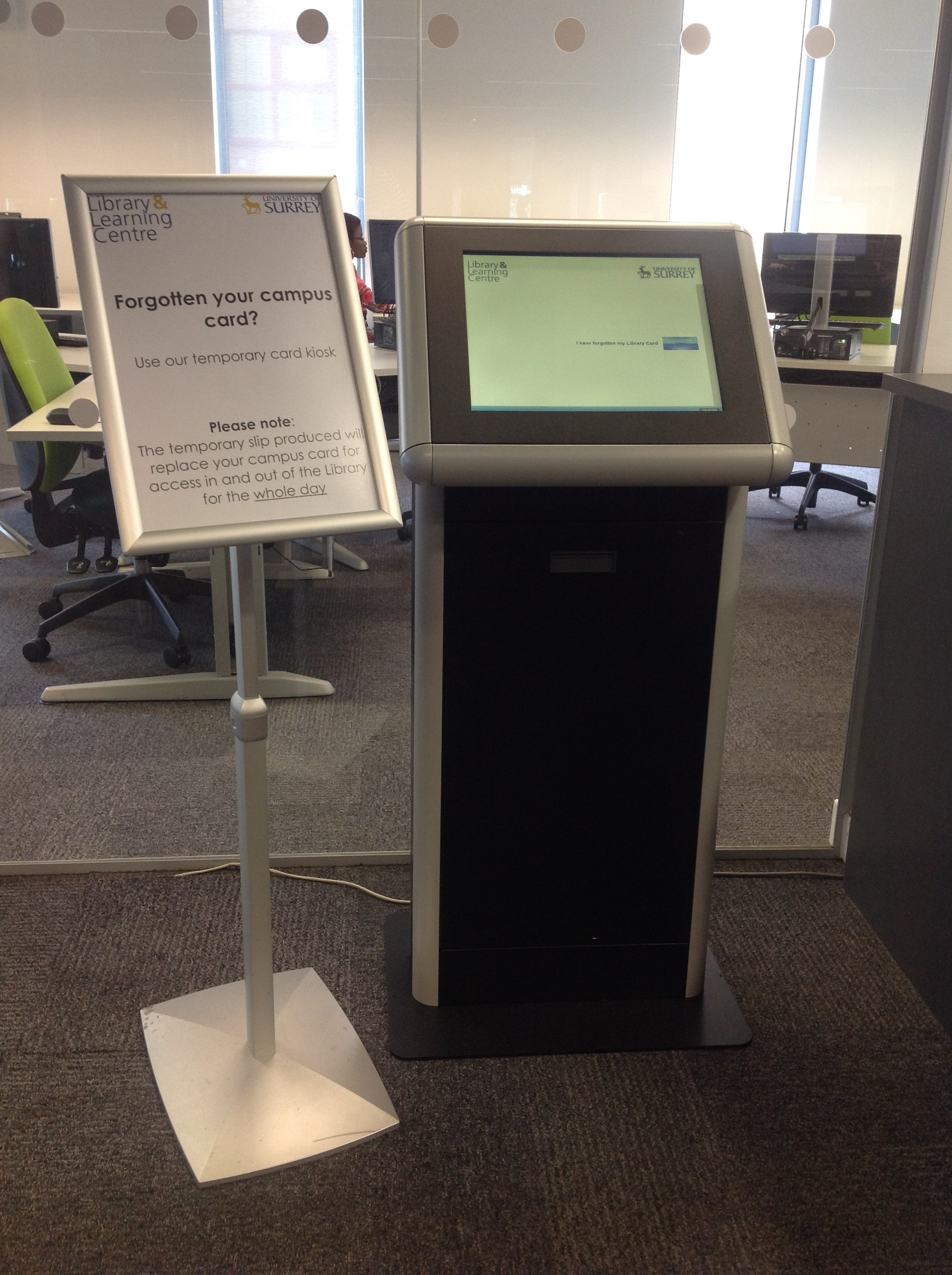 Forgotten your card? Use our new DIY card kiosk! | Library News