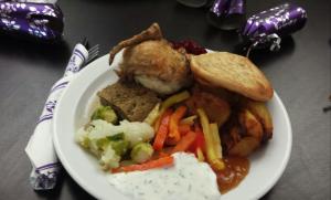 Christmas roast meal