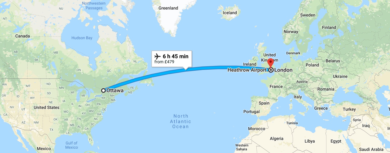 Map From England To Canada Transfer Days: Canada to England | Surrey meets Canada
