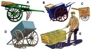 Handcarts, yesterday
