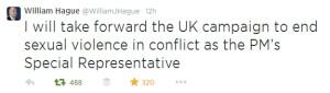 Hague tweet