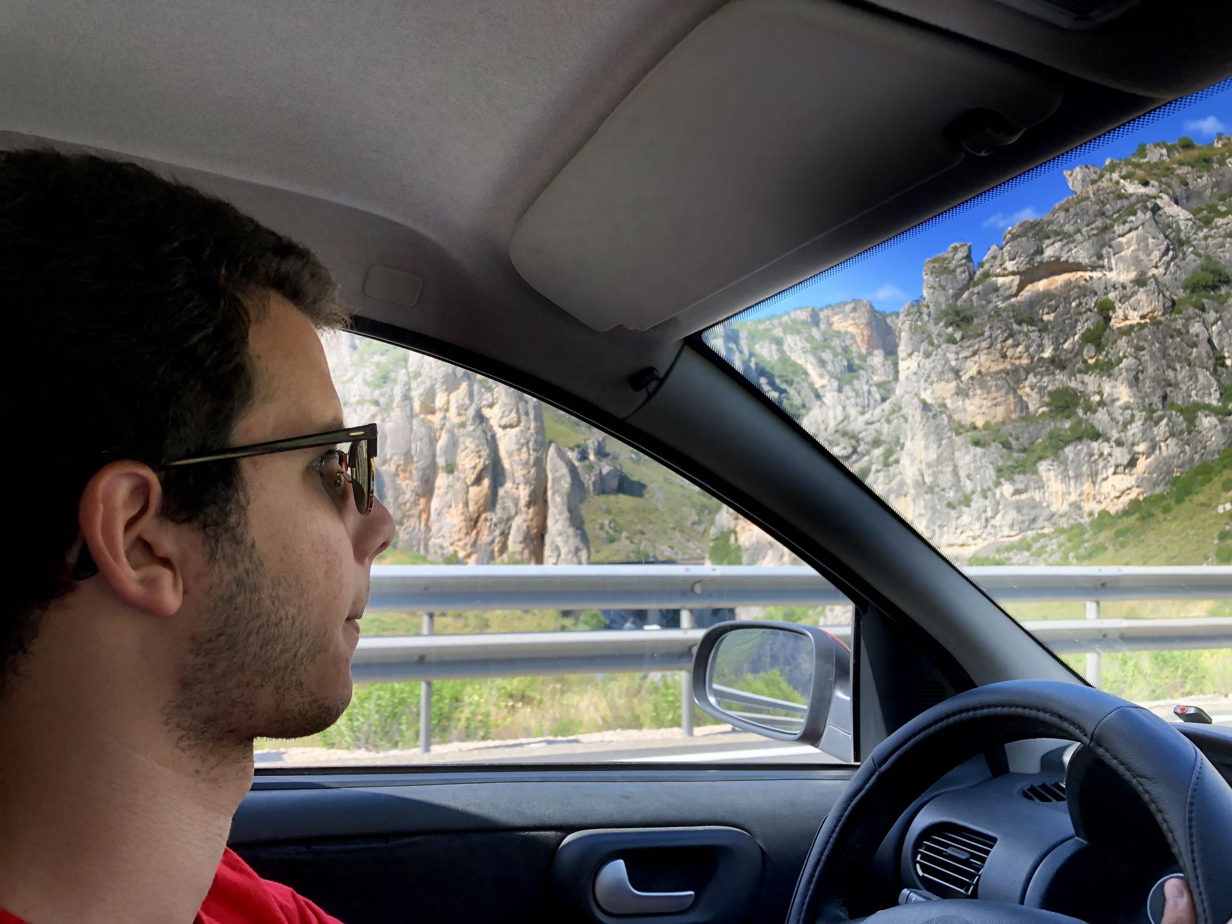 Luis, driving to Germany
