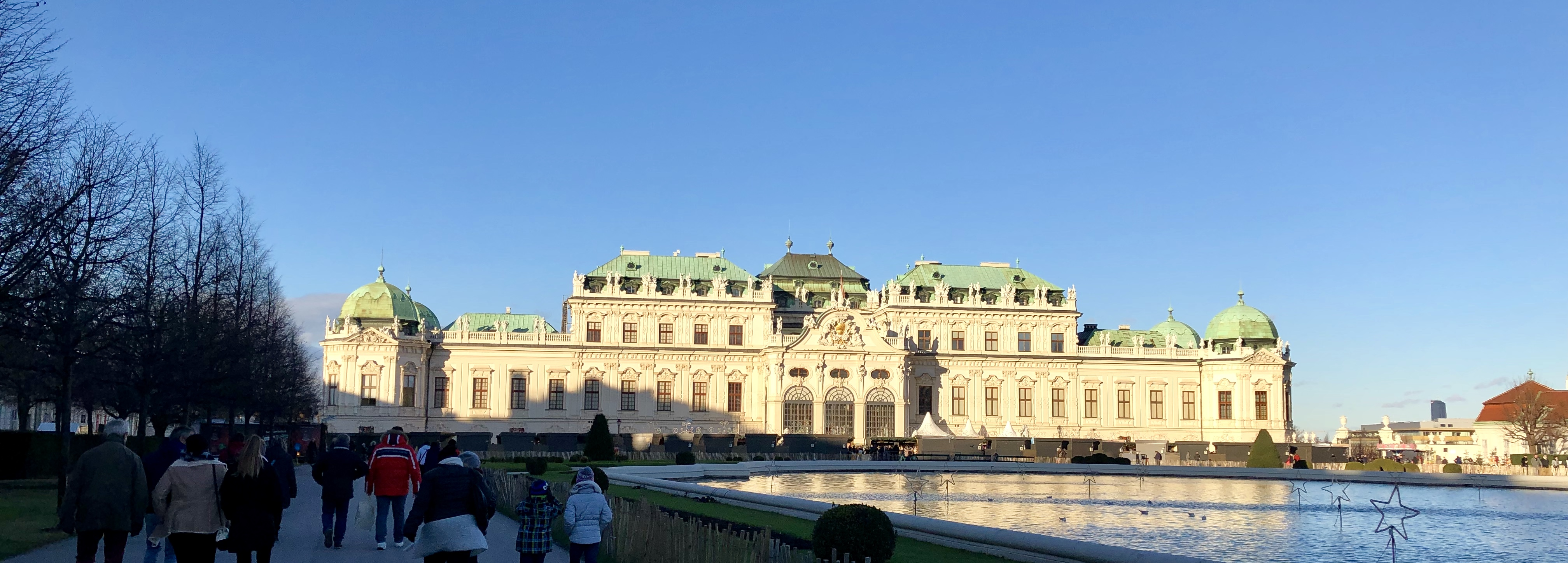 Panoramic shot of the Belvedere Palace, Vienna