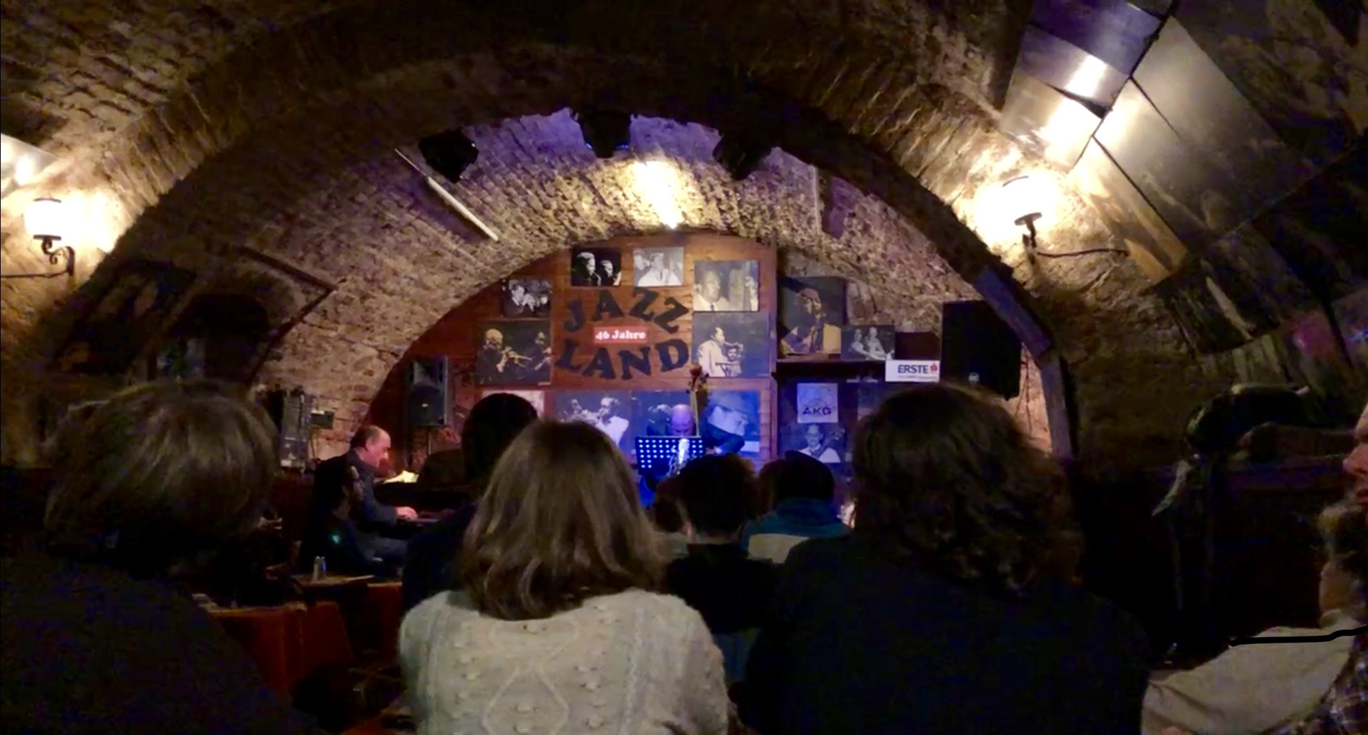 Picture of gig I attended at Jazz Keller Wien