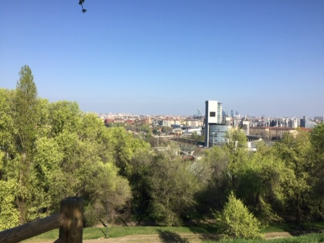 View of Milano city centre from Monte Stella Park