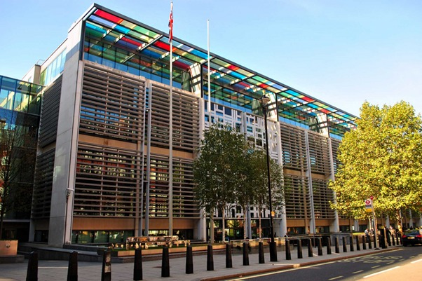 A view of the outside of the Defra Government Office, 2 Marsham Street, Westminster