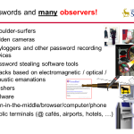 Passwords and many observers
