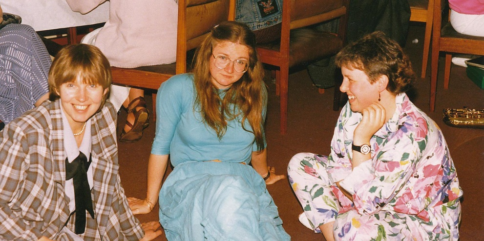 Figure 1: Jill Wilkinson, Glynis Breakwell and Elizabeth Campbell (1988)