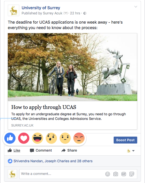 Facebook Reactions: More than just a bunch of emoji   Surrey