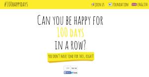 100 Happy Days website