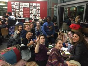 Students enjoying a social
