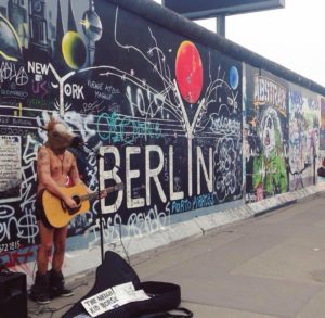 East Side Gallery + an eccentric busker
