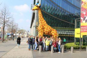 Giant lego giraffe!