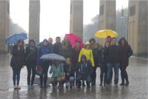 Brandenburg Gate in the pouring rain